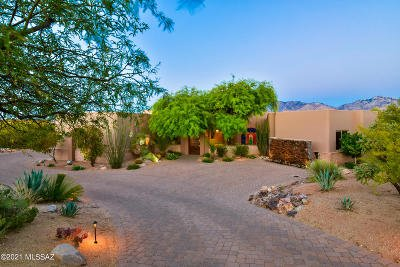 Oro Valley Single Family Home Active Contingent: 14612 N Quiet Rain Drive
