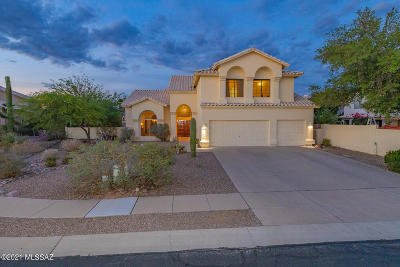Oro Valley Single Family Home For Sale: 1350 W Canada Creek Place