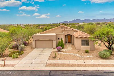 Oro Valley Single Family Home Active Contingent: 12309 N Washbed Drive