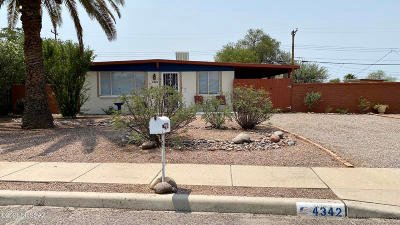 Tucson Single Family Home Active Contingent: 4342 E 31st Street