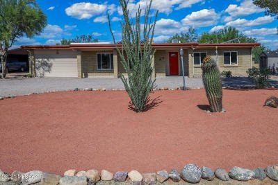 Tucson Single Family Home Active Contingent: 7381 N Casa Blanca Drive